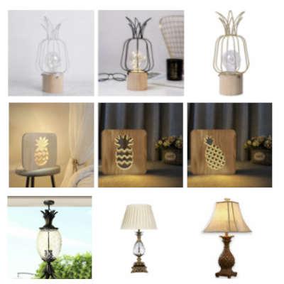 catégorie lampe et luminaires ananas avec 6 lampes ananas