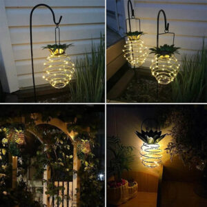 Lampe ananas Solaire