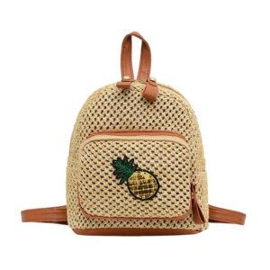 Mini sac à dos motif ananas Paille