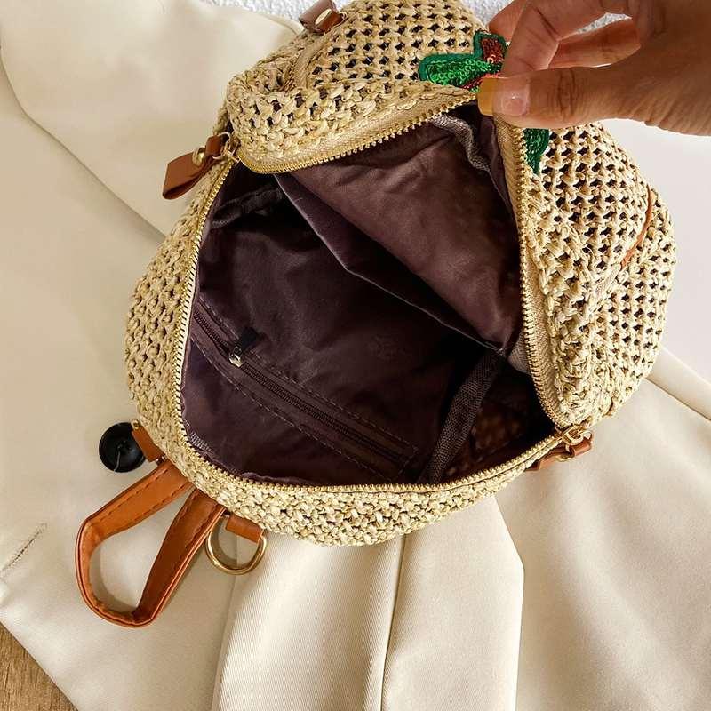 mini sac à dos motif ananas poches