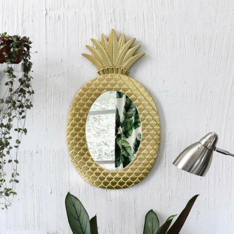 miroir ananas dore