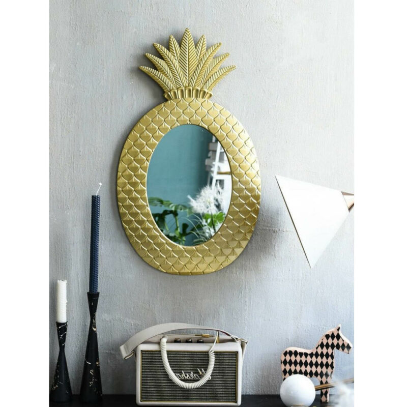 miroir ananas doré salle de bain