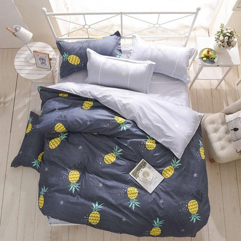 parure de lit ananas bleu ciel étoilé