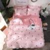 parure de lit ananas rose