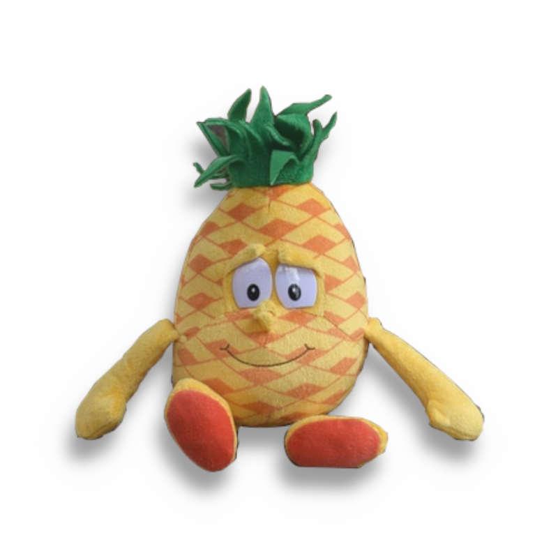 peluche ananas imberbe sans poils en tissu avec des bras et des jambes
