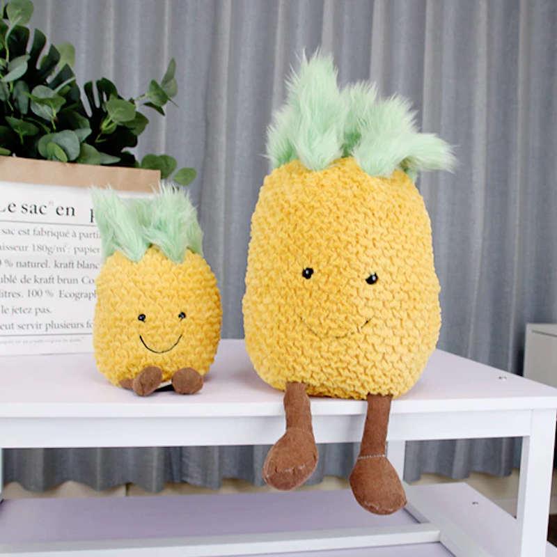 peluche ananas jaune grande et petite taile