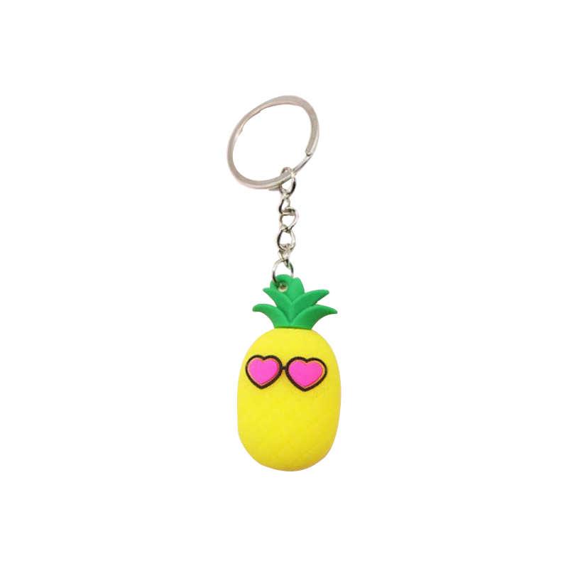 porte-clés ananas avec yeux en forme de coeur