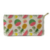 porte monnaie avec motifs ananas, pastèques, kiwi, citron et pamplemousse pour femme