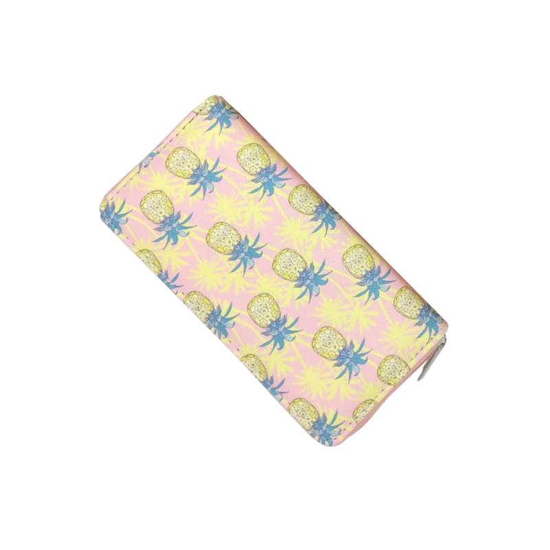 porte monnaie ananas palmiers femme