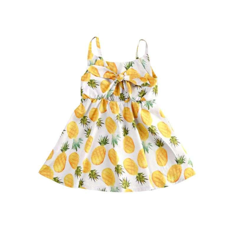 robe motif ananas pour fille avec noeud