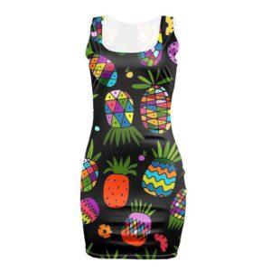 Robe Ananas Moulante Colorée