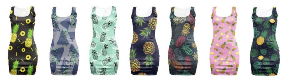robes motifs ananas