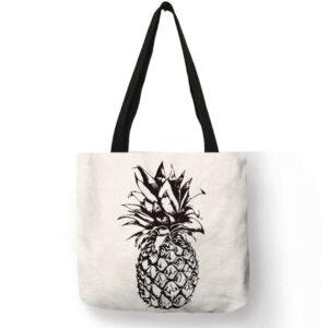 Sac ananas <br>Tote bag motif ananas