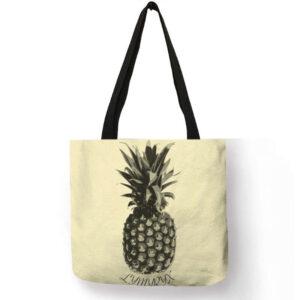 Sac ananas <br>Tote bag Noir et Blanc