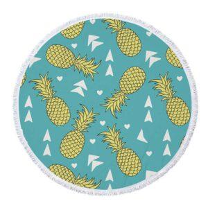 Serviette de Plage Ananas <br>Direction La Plage ! (ronde)