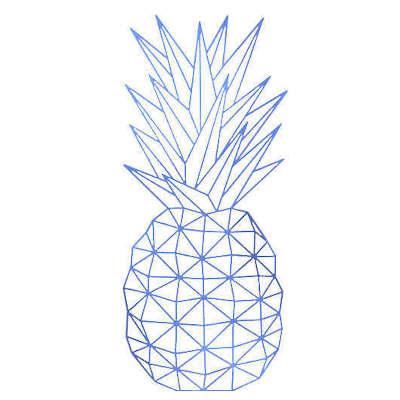sticker mural ananas
