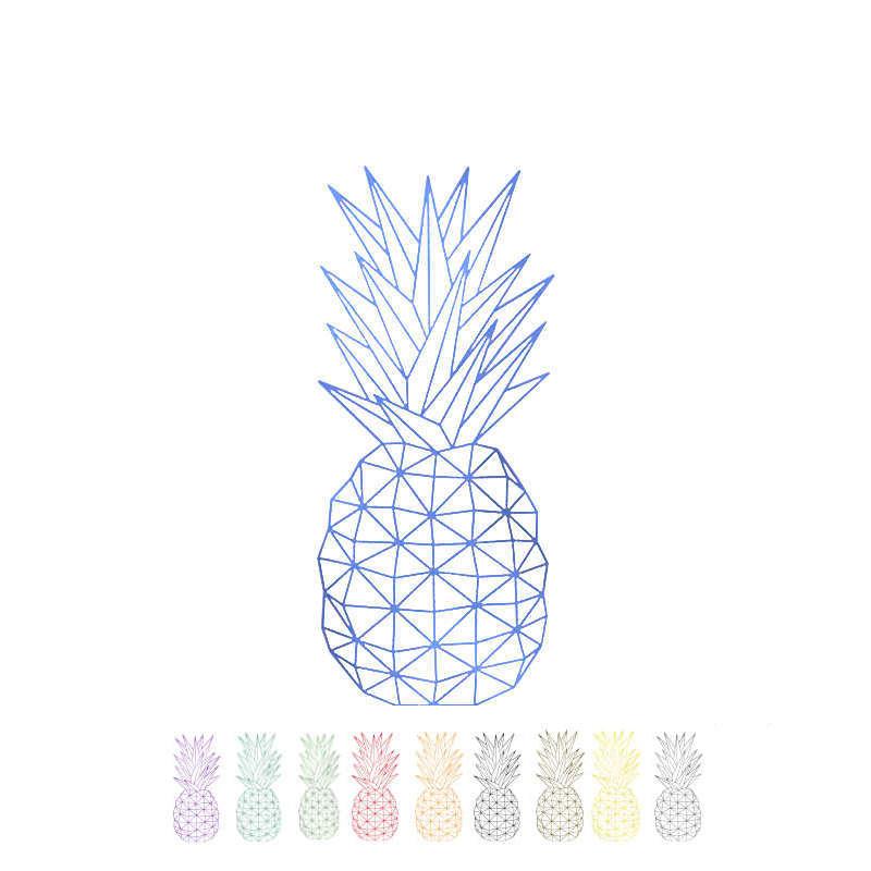 décoration murale sous forme de sticker mural représentant un ananas géométrique disponible en plusieurs couleurs