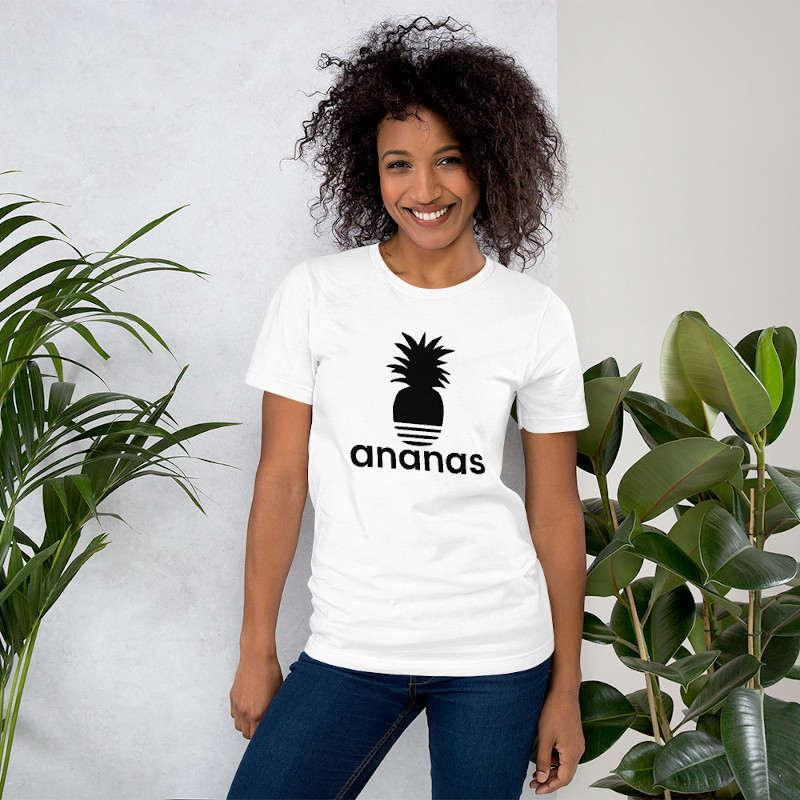 t-shirt ananas adidas femme blanc