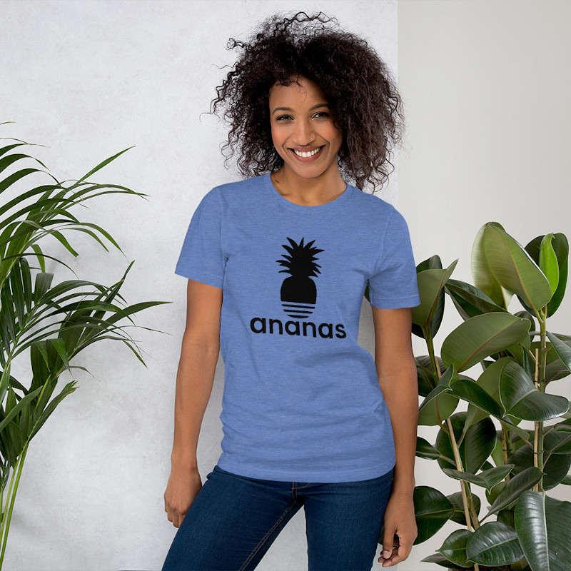 t-shirt ananas adidas femme bleu