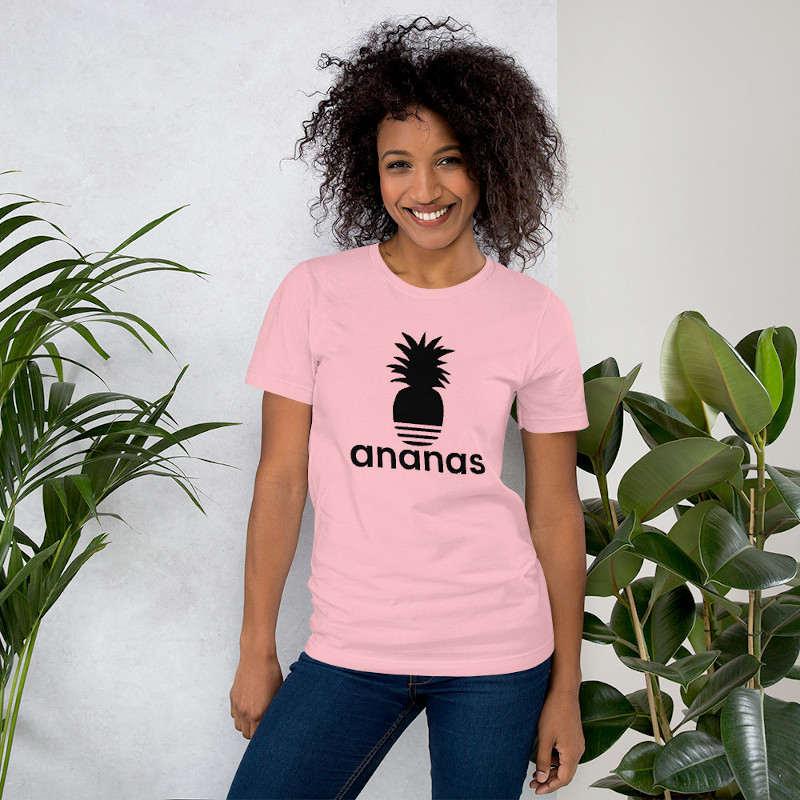 t-shirt ananas adidas femme rose