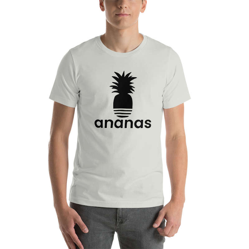 t shirt ananas adidas homme gris