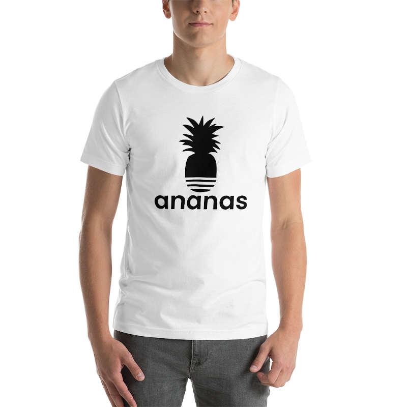 t shirt ananas adidas homme blanc