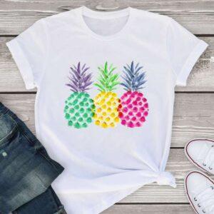 T-Shirt Ananas Femme <br>Trois Couleurs