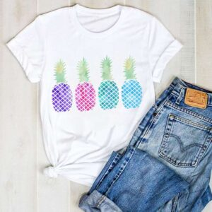T-Shirt Ananas Femme 4 couleurs