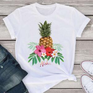 T-Shirt Ananas Femme <br>Aloha