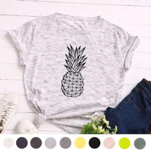 T-Shirt Ananas Femme <br>Géométrique