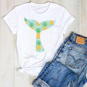 T-Shirt Ananas Femme Queue de Baleine