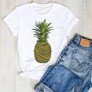T-Shirt Motif Ananas Femme