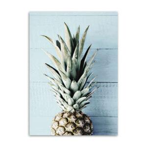 Tableau Demi Ananas Bois Bleu