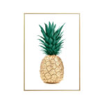 Tableau Ananas Couleur Or