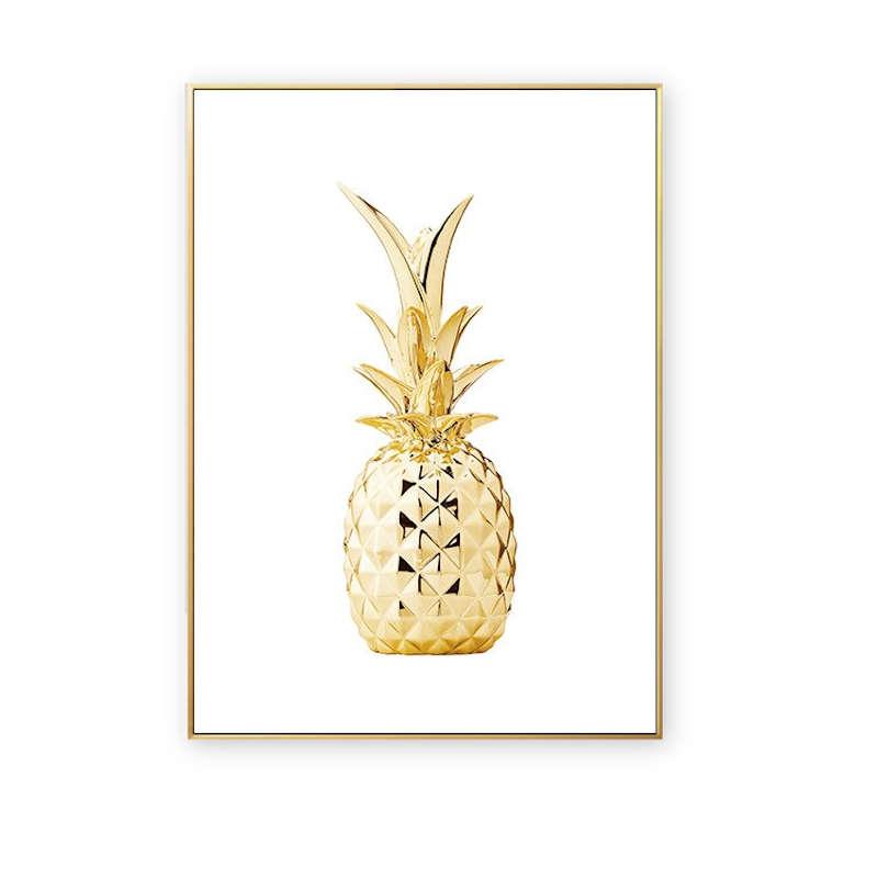 tableau ananas doré design moderne