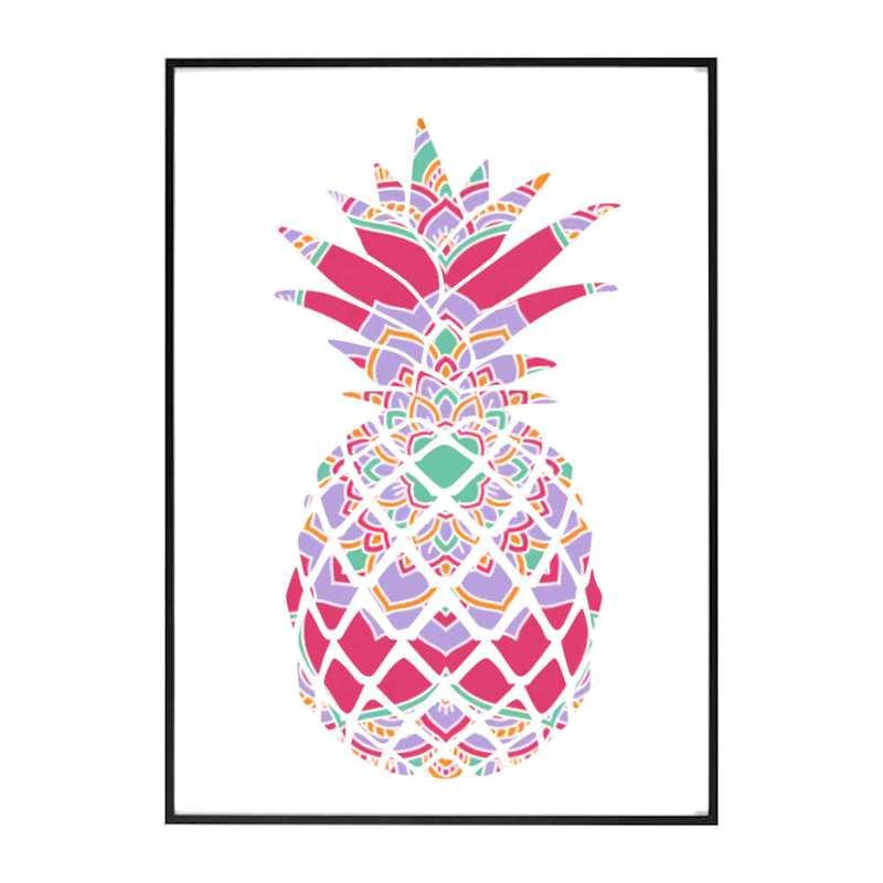 tableau ananas mandala moorea rose