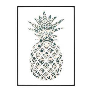 Tableau Ananas Mandala Raiatea