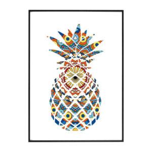 Tableau Ananas Mandala Tikehau