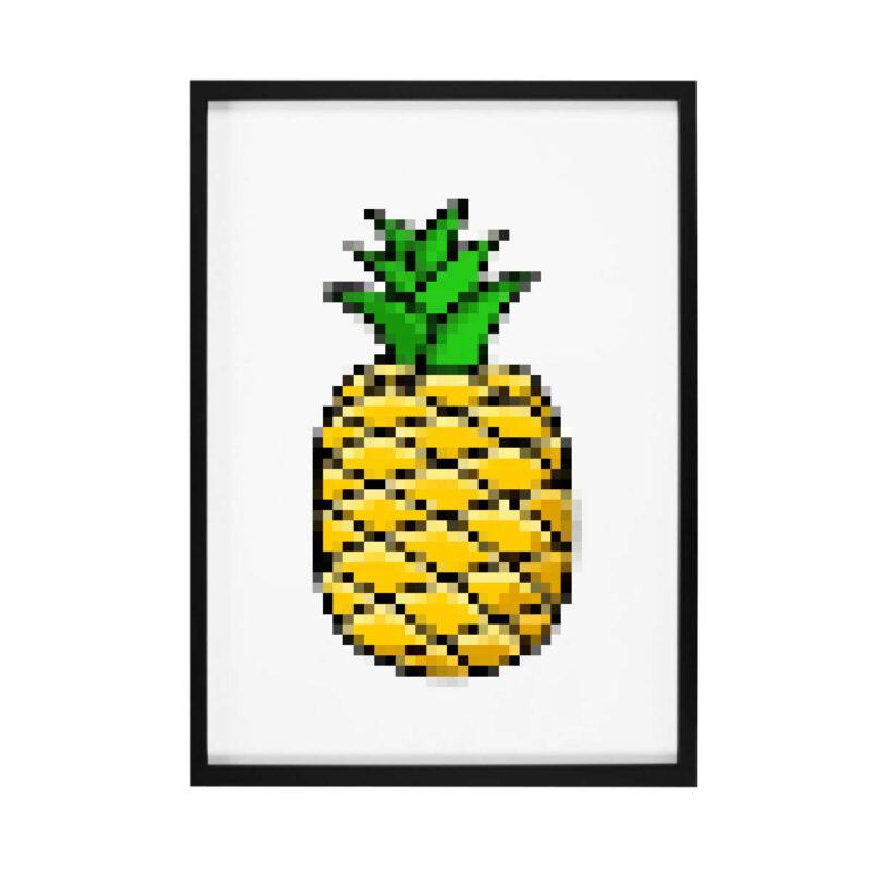 tableau ananas pixel art