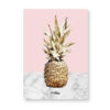 Tableau ananas rose et doré