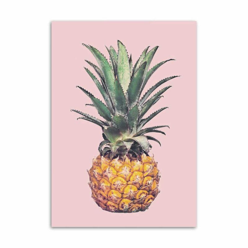 tableau ananas victoria sur fond rose