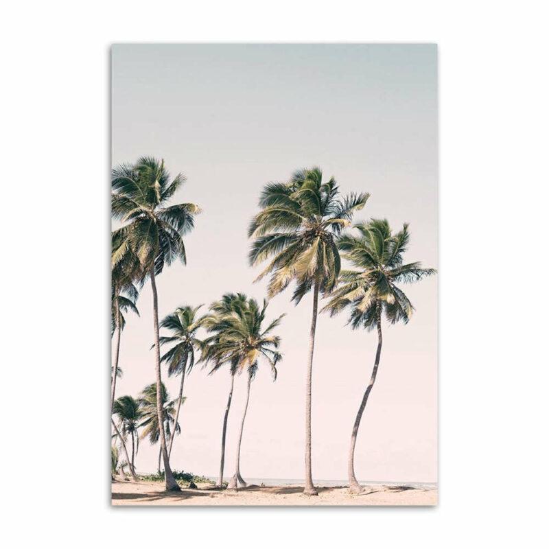 tableau ananas victoria palmier sur une plage