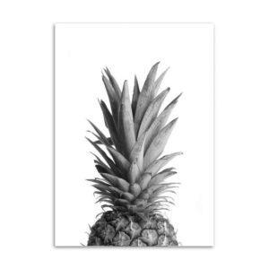 Tableau Demi Ananas Noir et Blanc