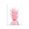 tableau sur toile demi ananas rose pastel