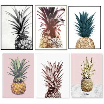tableaux sur toile ananas de divers styles et couleurs