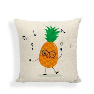 Taie d'oreiller Ananas Danse du Fruit 45×45