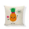 taie d'oreiller motif ananas avec bulle Hi