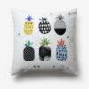 taie d'oreiller motif ananas avec les lettres pineapple imprimées dans le désordre