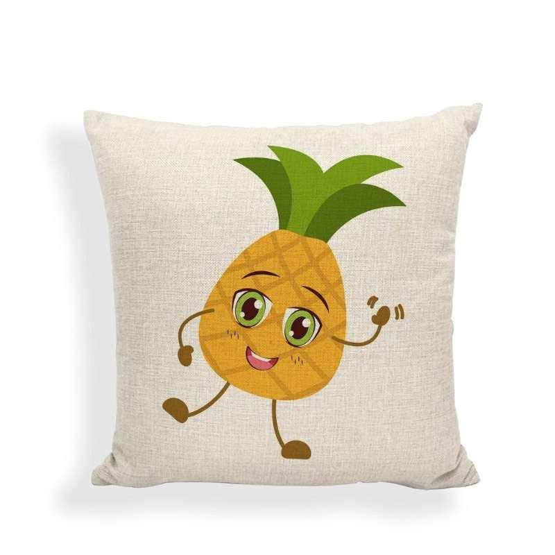 taie d'oreiller motif ananas kawaii