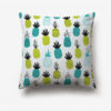 taie d'oreiller imprimée d'ananas bleus et verts